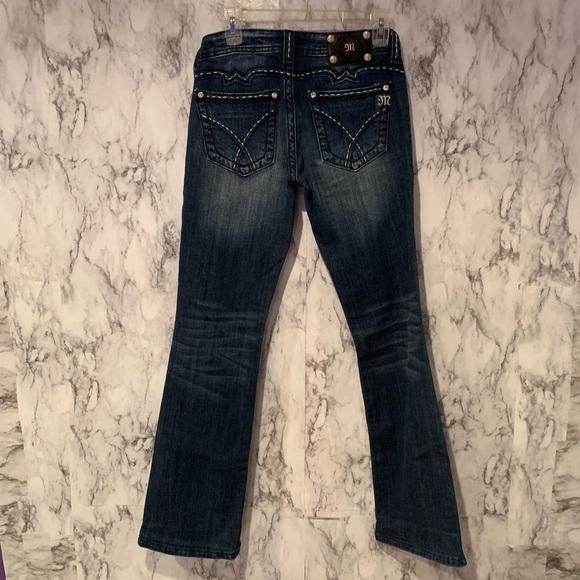 Miss Me Denim - Miss Me Dark Wash Bootcut Jeans Stitch Pocket